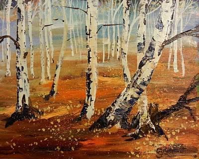 #38 Last Leaves Art Print