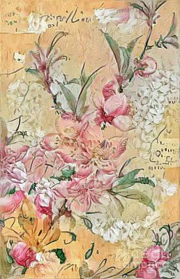 Digital Art - Shabby Chic Botanical Flowers by Amy Cicconi