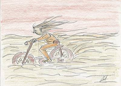 Bycicle Drawing - Untitled by Gabriel Coelho
