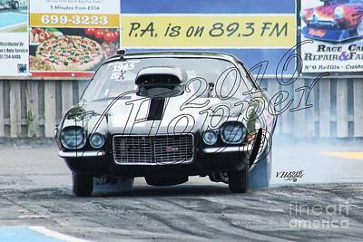 Wall Art - Photograph - 3826 05-29-16 Esta Safety Park Drag Racing by Vicki Hopper