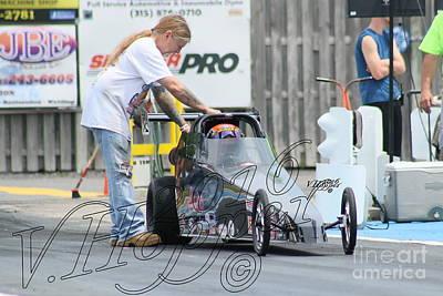 Wall Art - Photograph - 3899 05-29-16 Esta Safety Park Drag Racing by Vicki Hopper