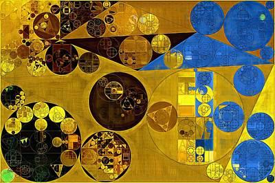 Abstract Painting - Zinnwaldite Brown Art Print by Vitaliy Gladkiy