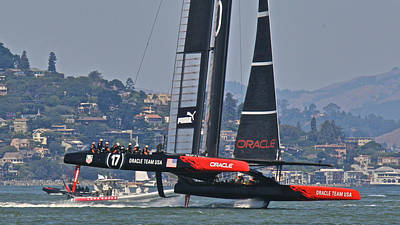 Sausalito Photograph - America's Cup Oracle by Steven Lapkin