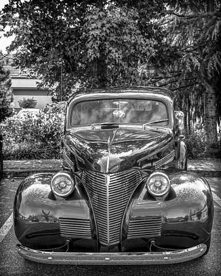 Photograph - '39 Chevrolet B And W by Ronda Broatch