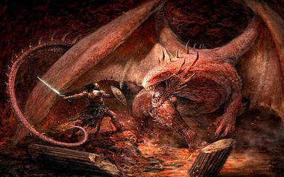 Animals Digital Art - Dragon by Super Lovely