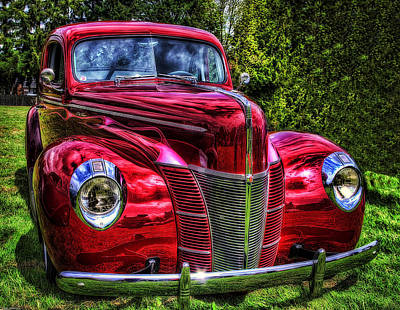 39 Ford Photograph - 38 Ford Coupe  by Thom Zehrfeld