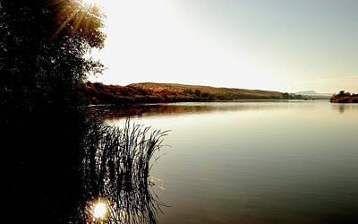 Sunset Digital Art - Lake by Super Lovely
