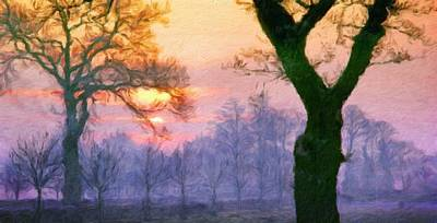 Oil Painting - Landscape Drawing Nature by Margaret J Rocha