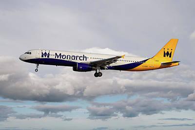 Monarch Airbus A321-231 Art Print