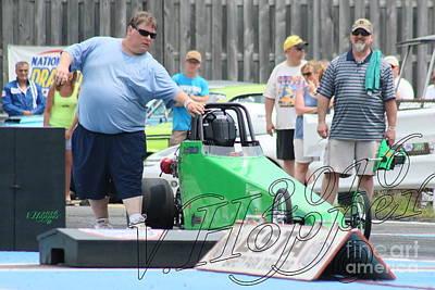 Wall Art - Photograph - 3900 05-29-16 Esta Safety Park Drag Racing by Vicki Hopper
