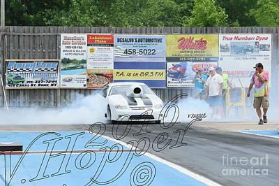 Wall Art - Photograph - 3913 05-29-16 Esta Safety Park Drag Racing by Vicki Hopper