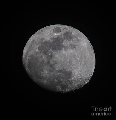 Photograph - Near Side Of The Moon by Dale Powell