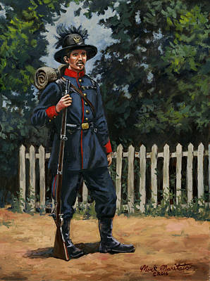 39th New York Infantry - The Garibaldi Guard 1861 Original by Mark Maritato