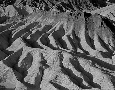 Photograph - 3a6832 Bw Eroded Lifeless Landscape by Ed Cooper Photography