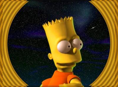 Digital Art - 3d Bart Simpson by Mario Carini