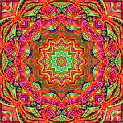 Photograph - 3d Color Kaleidoscope by Ludek Sagi Lukac