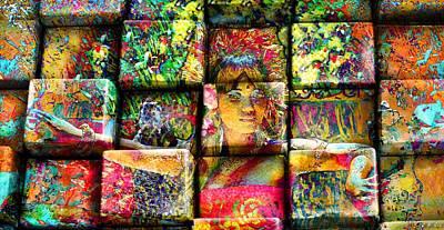 3d Cubist Art Print by Jean Francois Gil