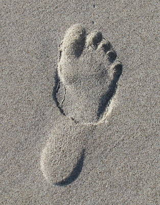 Photograph - 3d Footprint In The Sand by Ellen Meakin
