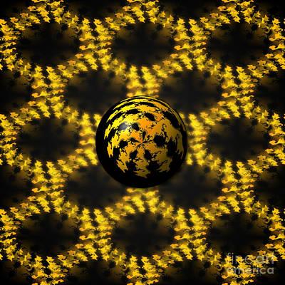 Digital Art - 3d Fractal Ball by Henrik Lehnerer