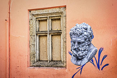 Photograph - 3d Graffiti And Window - Romania by Stuart Litoff