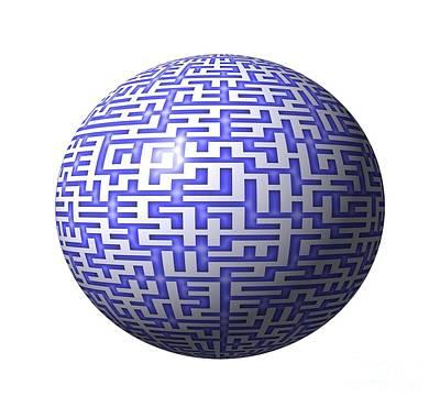 Digital Art - 3d Maze by Yali Shi