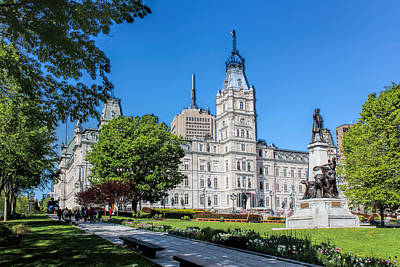 Photograph - Parliament Building Old Quebec by Carlos Diaz