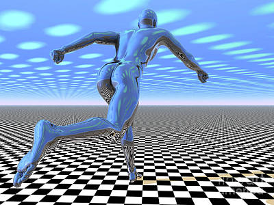Digital Art - 3d Runner by Nicholas Burningham