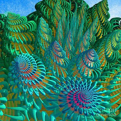 3d Seashells Artwork Art Print by Gaspar Avila