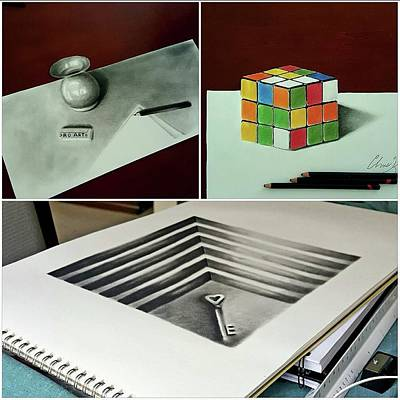 Drawing - 3d Sketches by Christopher Kyle