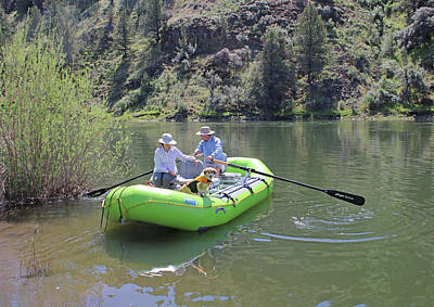 Photograph - 3da5770 Retired Couple On John Day River by Ed Cooper Photography