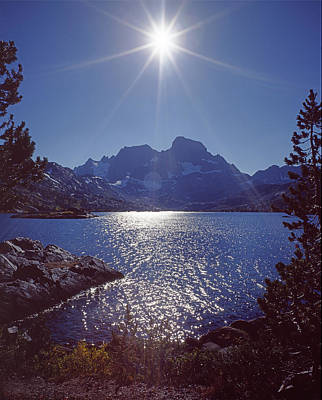 Photograph - 3m6333 Sunburst Over Garnet Lake And Banner Peak by Ed Cooper Photography