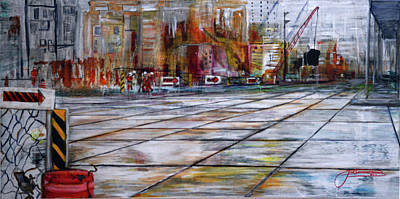 Painting - Second Avenue Subway by Jack Diamond