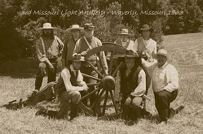 Photograph - 3rd Missouri Light Artillery by David Dunham