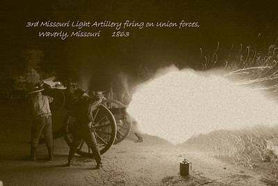 Photograph - 3rd Missouri Night Fire by David Dunham
