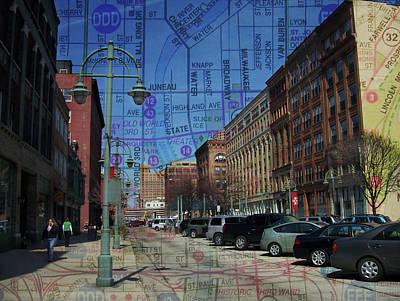 Beastie Boys - 3rd Ward Broadway w Map by Anita Burgermeister