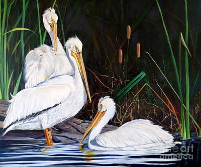 Painting - 3's Company by Marilyn McNish