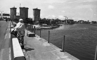 Photograph - Falomo Bridge Across The Lagoon by Muyiwa OSIFUYE