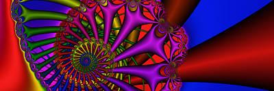 Digital Art - 3x1 Abstract 900 by Rolf Bertram