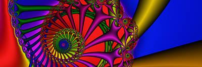 Digital Art - 3x1 Abstract 901 by Rolf Bertram
