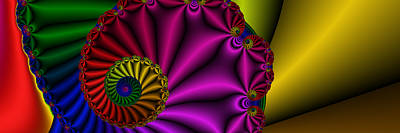 Digital Art - 3x1 Abstract 902  by Rolf Bertram
