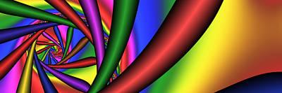 Digital Art - 3x1 Abstract 906 by Rolf Bertram