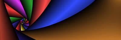 Digital Art - 3x1 Abstract 907 by Rolf Bertram