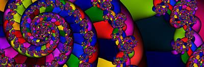 Digital Art - 3x1 Abstract 909 by Rolf Bertram