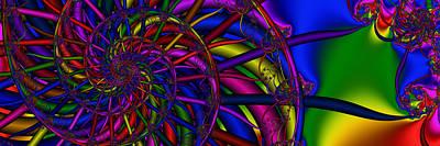 Digital Art - 3x1 Abstract 912 by Rolf Bertram