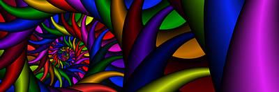 Digital Art - 3x1 Abstract 915 by Rolf Bertram