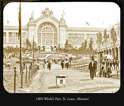 Photograph - 1904 World's Fair, Agriculture Pavillion, Floral Clock by A Gurmankin