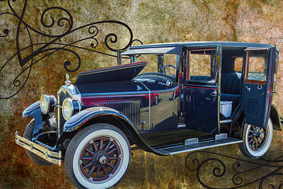 Photograph - 1924 Buick Duchess Antique Vintage Photograph Fine Art Prints 104 by M K  Miller