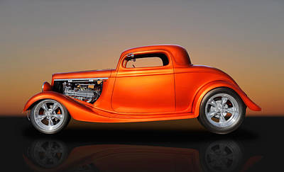 1933 Ford 3 Window Coupe Art Print