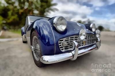 Brand Painting - 1962 Triumph Tr3 by George Atsametakis