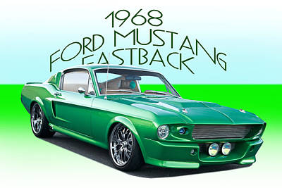 Kitchen Collection - 1968 Ford Mustang Fastback by Dave Koontz